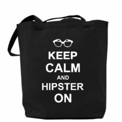 Сумка Keep calm an hipster on