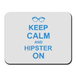 Килимок для миші Keep calm an on hipster - FatLine