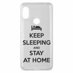 Чехол для Xiaomi Redmi Note 6 Pro Keep sleeping and stay at home - FatLine