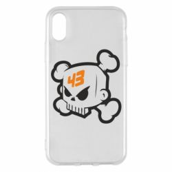Чехол для iPhone X/Xs Ken Block Skull