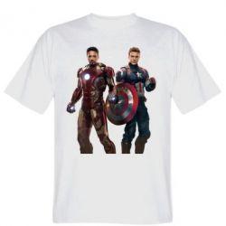 Мужская футболка Кэп и Тони - FatLine