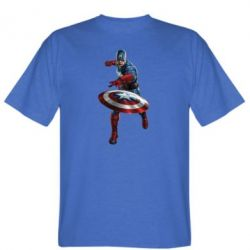 Мужская футболка Кэп - FatLine