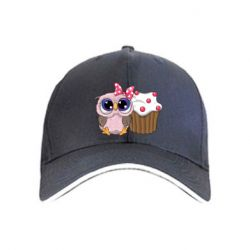 Кепка Owl with cupcake