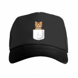 Кепка-тракер Cat in your pocket