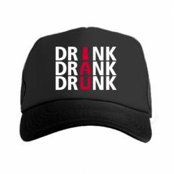 Кепка-тракер Drink Drank Drunk
