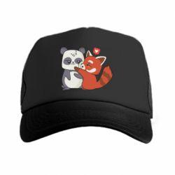 Кепка-тракер Panda and fire panda