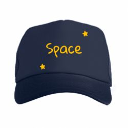Кепка-тракер Space: Letters and Stars Print