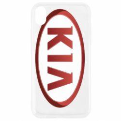 Чохол для iPhone XR KIA 3D Logo