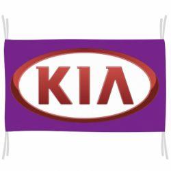 Прапор KIA 3D Logo