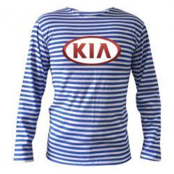 Тельняшка с длинным рукавом KIA 3D Logo - FatLine