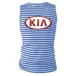 Майка-тельняшка KIA 3D Logo - FatLine