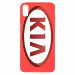 Чохол для iPhone X/Xs KIA 3D Logo