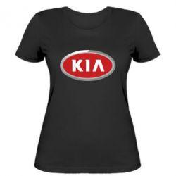 Женская футболка KIA Logo 3D - FatLine
