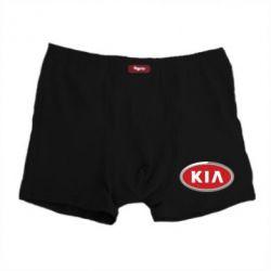 Мужские трусы KIA Logo 3D - FatLine