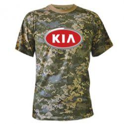 Камуфляжная футболка KIA Logo 3D - FatLine