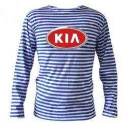 Тельняшка с длинным рукавом KIA Logo 3D - FatLine