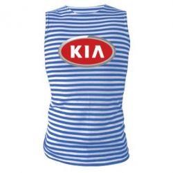 Майка-тельняшка KIA Logo 3D - FatLine