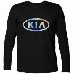 Футболка с длинным рукавом KIA logo Голограмма