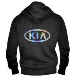 Мужская толстовка на молнии KIA logo Голограмма