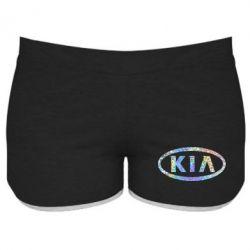 Купить Женские шорты KIA logo Голограмма, FatLine