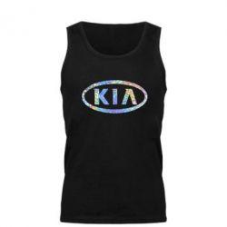 Мужская майка KIA logo Голограмма