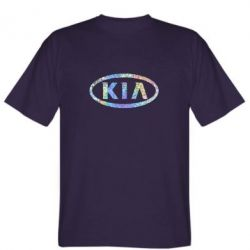 Мужская футболка KIA logo Голограмма