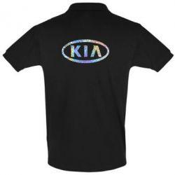 Мужская футболка поло KIA logo Голограмма