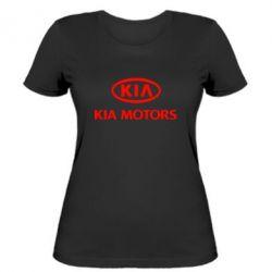 Женская футболка Kia Logo