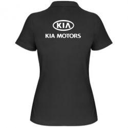 Женская футболка поло Kia Logo - FatLine