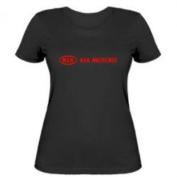 Женская футболка Kia Motors Logo
