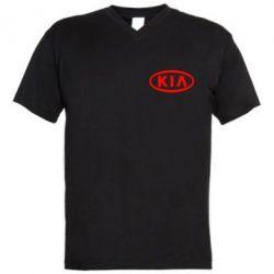 Мужская футболка  с V-образным вырезом KIA Small - FatLine