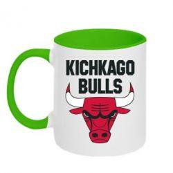 Кружка двухцветная Kichkago Bulls