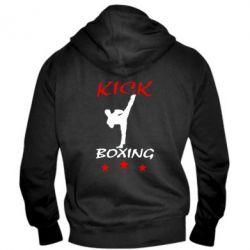 Мужская толстовка на молнии Kickboxing Fight - FatLine
