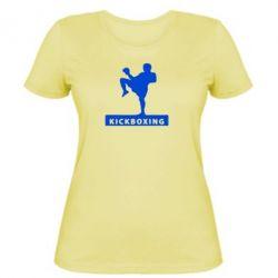 Женская футболка Kickboxing Fighter - FatLine