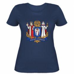 Женская футболка Киев большой герб 1995