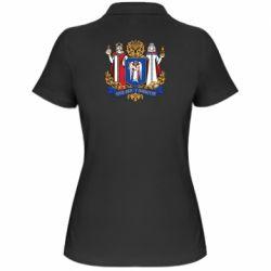 Женская футболка поло Киев большой герб 1995