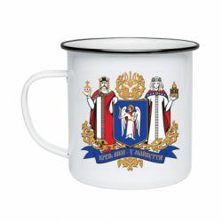 Кружка эмалированная Киев большой герб 1995