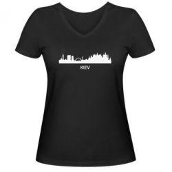Женская футболка с V-образным вырезом KIEV - FatLine