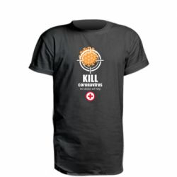 Подовжена футболка Kill coronavirus the doctor will help