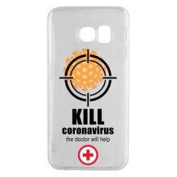 Чехол для Samsung S6 EDGE Kill coronavirus the doctor will help