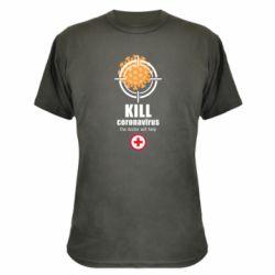 Камуфляжна футболка Kill coronavirus the doctor will help