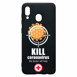 Чехол для Samsung A20 Kill coronavirus the doctor will help