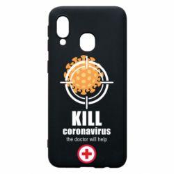 Чехол для Samsung A40 Kill coronavirus the doctor will help