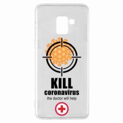 Чохол для Samsung A8+ 2018 Kill coronavirus the doctor will help