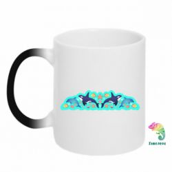 Кружка-хамелеон Killer whale and dolphins
