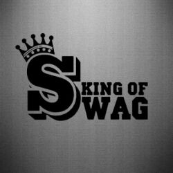Наклейка King of SWAG