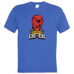 Мужская футболка  с V-образным вырезом king of the Ring - FatLine