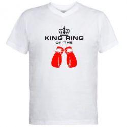 Мужская футболка  с V-образным вырезом King Ring - FatLine