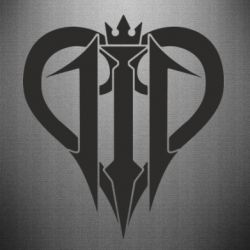 Наклейка Kingdom Hearts logo