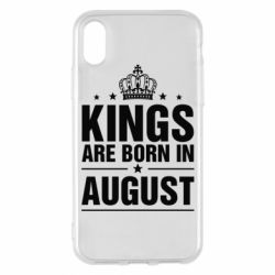 Чехол для iPhone X Kings are born in August - FatLine
